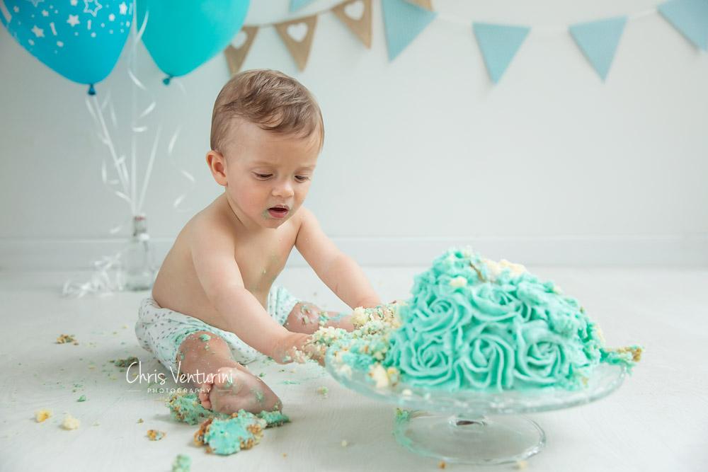 Sesión de bebé cumpleaños en Madrid
