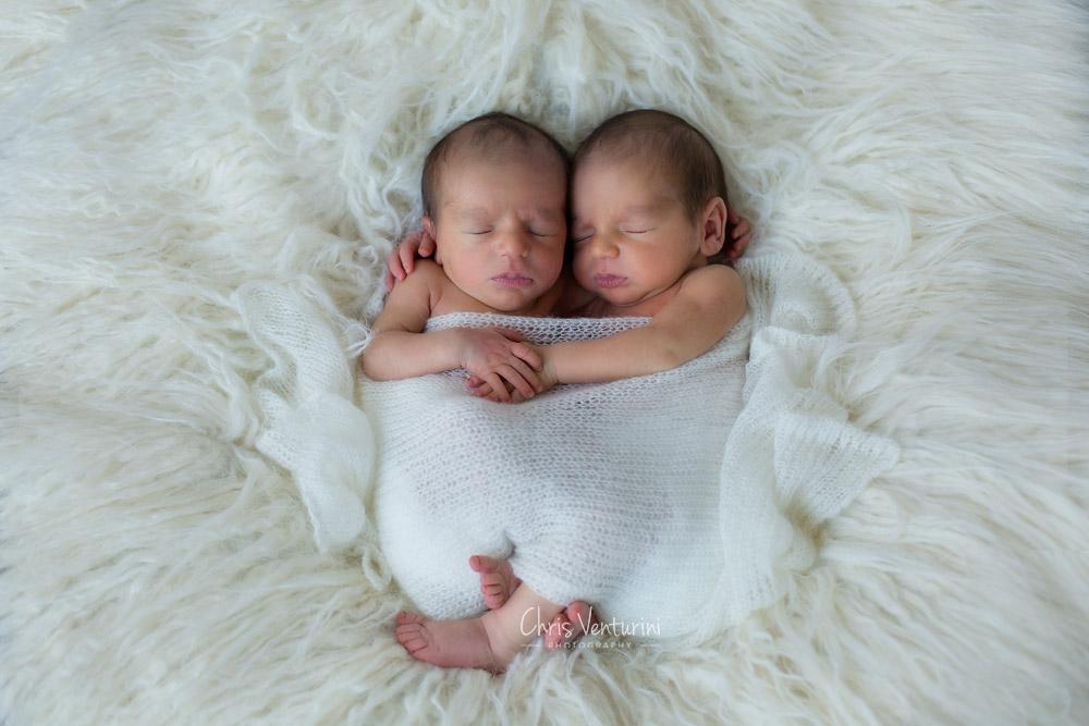 Sesión de fotos recién nacido mellizos en Madrid