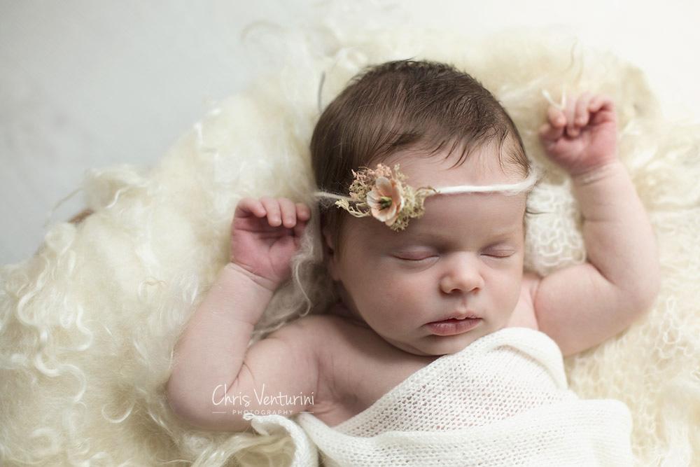 Recién nacido en sesión de fotos
