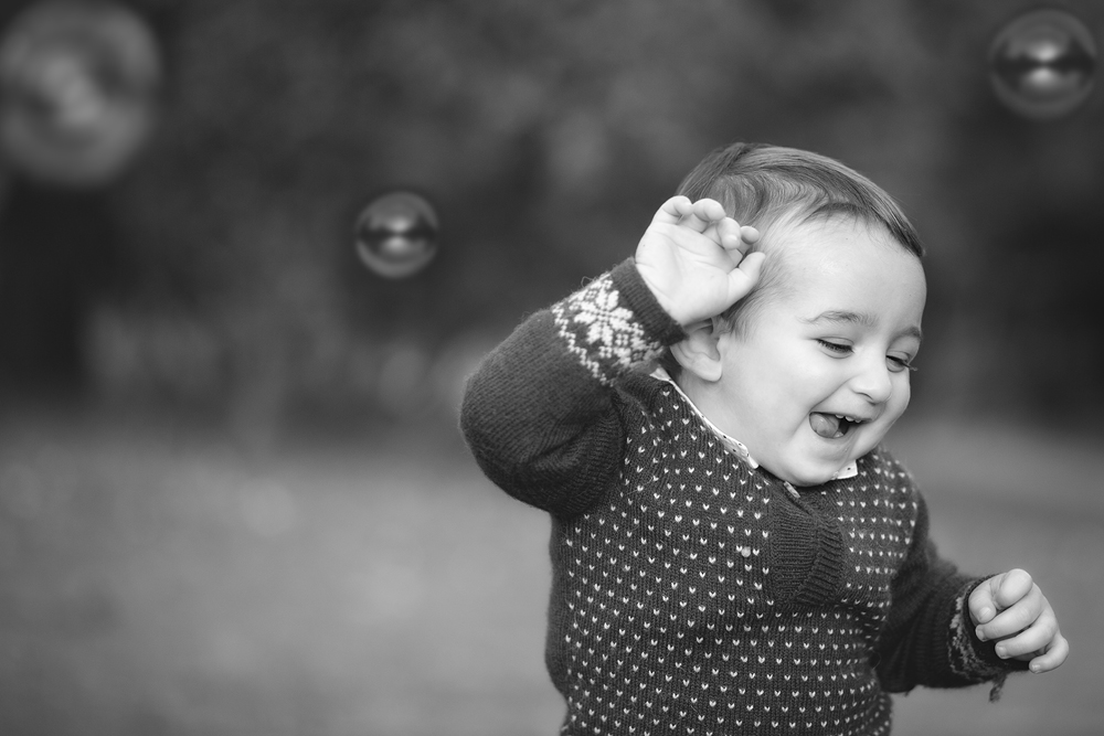 Sesión de fotos de niños en exteriores