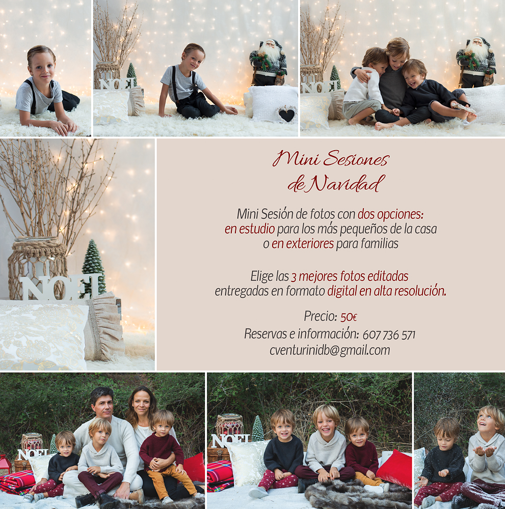 Mini sesión de Navidad en exteriores 2017