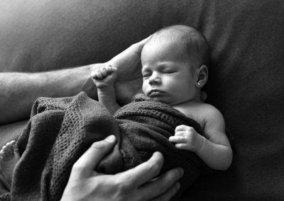 Sesiones de recién nacidos naturales en Madrid