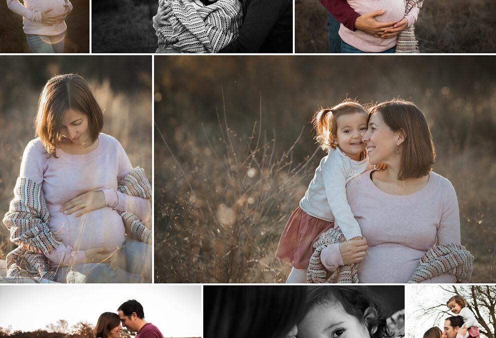 Fotos de premamá en exteriores, en invierno también se puede.