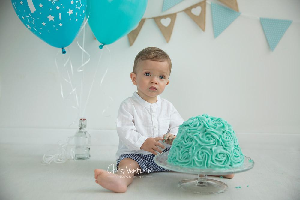 Bebé en su sesión de Cake Smash