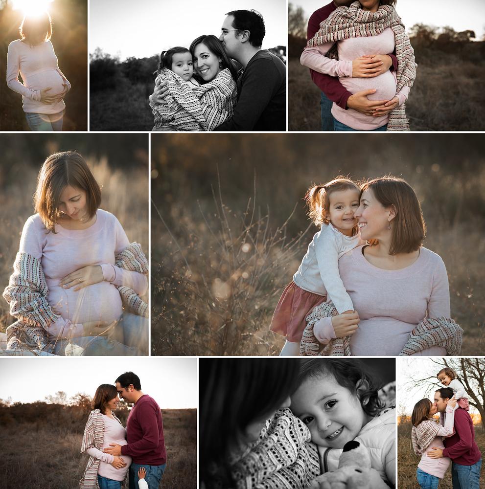 Sesión de fotos de embarazadas y familias en exteriores en