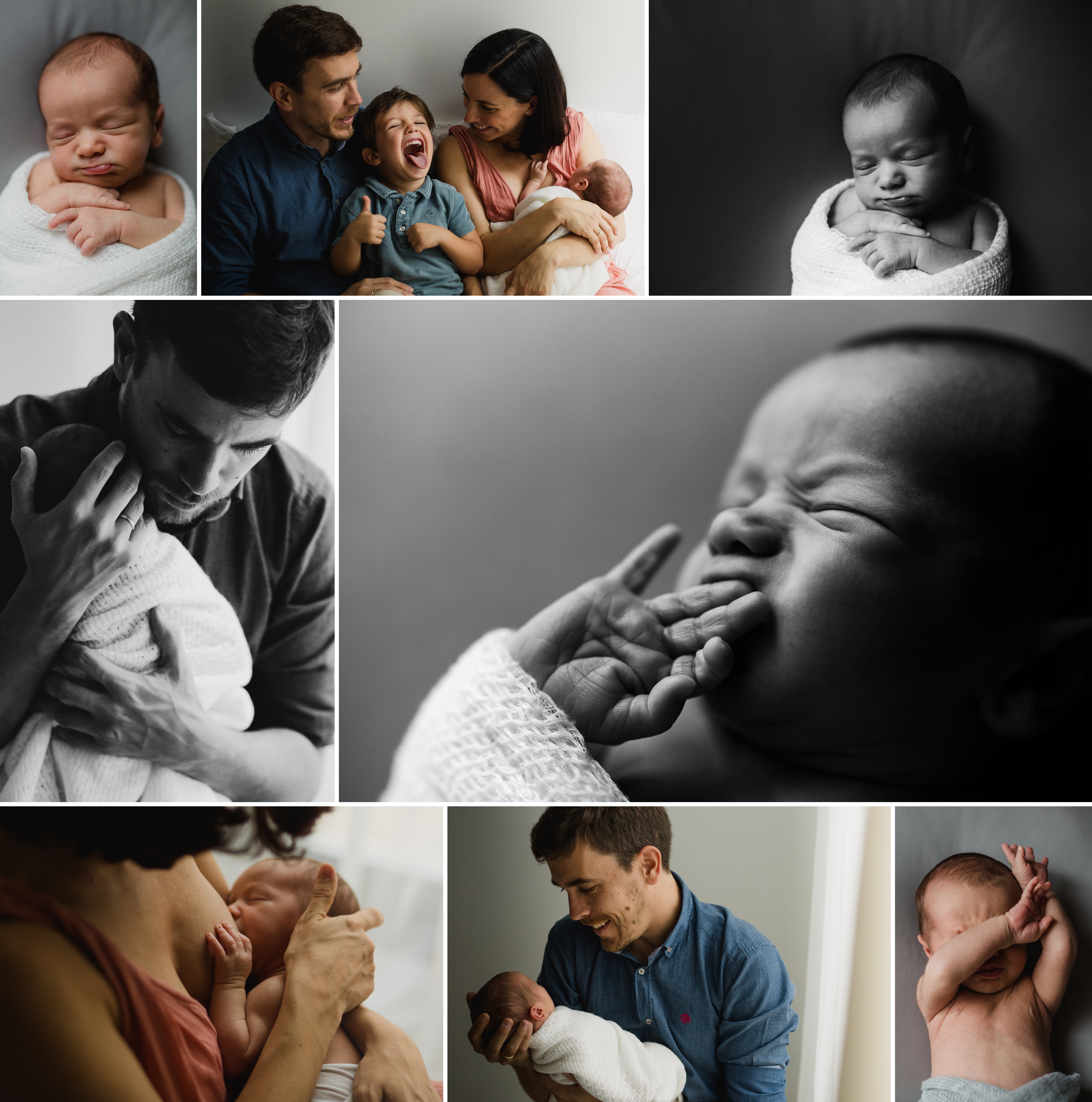 Sesión de recién nacido diferente