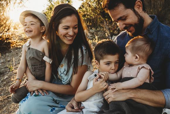 Sesión de fotos a familias en Madrid