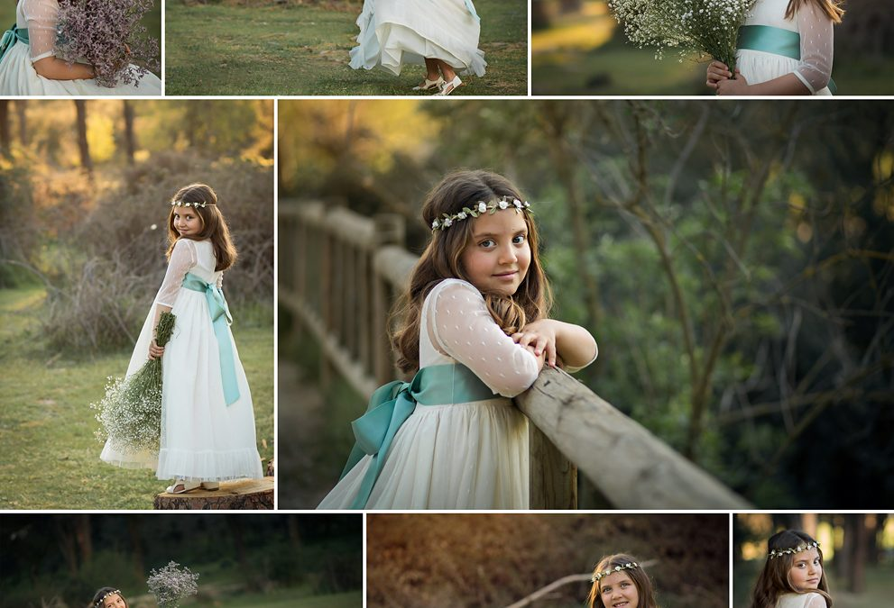 Sesión de fotos de Comunión para príncipes y princesas divertidos